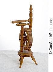 barrel organ, spinning wheel