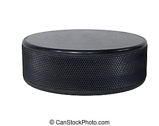 Hockey Puck - An Isolated Hockey Puck