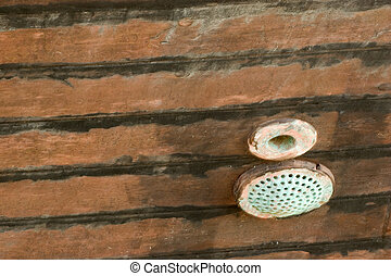 Grunge Background 41: Wooden Ships Hull - Photo of an old...