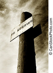 No Mooring 2 - Photo of a No Mooring sign against a vibrant...