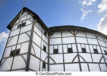 Globe Theatre - Home of Shakespeares plays by the banks of...