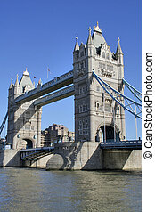 Tower Bridge - The famous bridge over the Thames in London,...