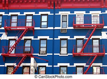 Red white and blue - red white and blue facade i NYC
