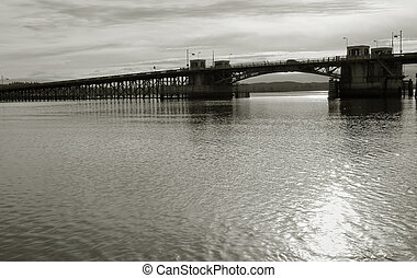 Old Youngs Bay Bridge - Photo of the Old Youngs Bay Bridge,...