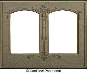 frame double - Victorian frame with double windows -...