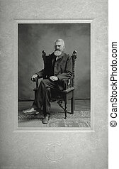 grandfather - porrait of Victorian man with white beard...