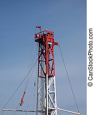 Rig derrick - Crown on drilling rig