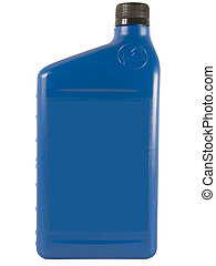 Blue Oil Bottle - Blue Plastic Oil Bottle With Label Blanked...