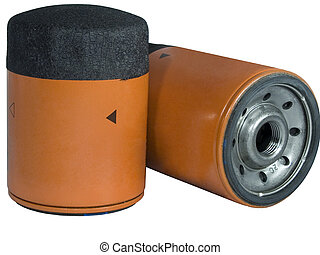 Oil Filters - Two Screw-on Type Oil Filters For a car