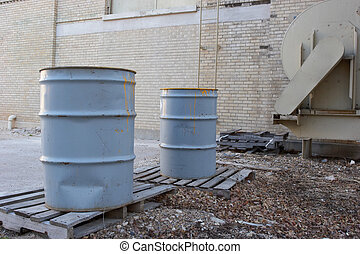 Waste Barrels - Waste barrels in an alley