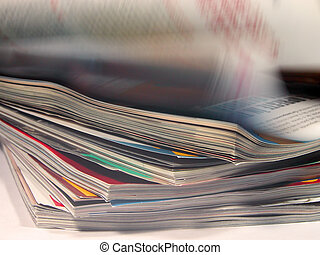Magazines aspects with a riffling blur aspect