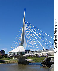 Provencher Bridge, in Winnipeg, Manitoba, Canada.