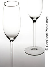 Sparkling Wine Glasses - Sektglaeser - two sparkling wine...