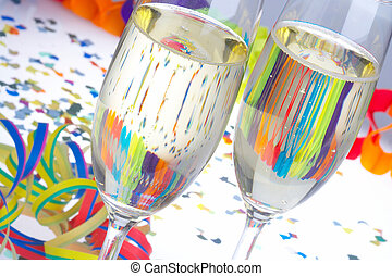 Cheers - Lei Lei - 2 Glasses of Sparkling Wine on Carnival -...