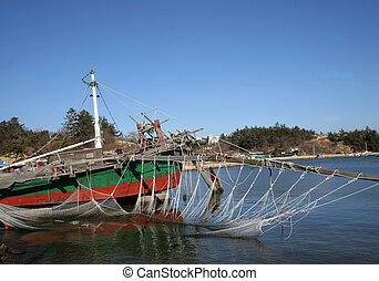Traditional Korea - shrimp boat - This traditional Korean...