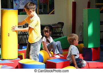 crianças, divertimento