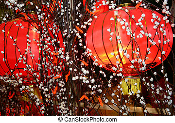 Chinese Lantern - Chinese New Year Lantern decoration with...