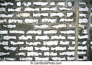 Concrete rugged wall pattern
