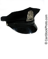 Police hat turned - , a police hat turned to the right,with...