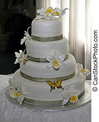 Wedding Cake - Wedding cake on a table