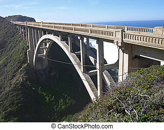California Bridge - Bridge on Highway 1, south of Carmel,...