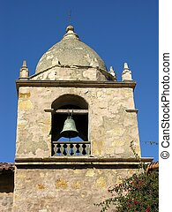 Carmel Tower - Bell tower at the mission, Carmel California.