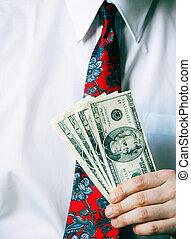 Making Money - holding cash