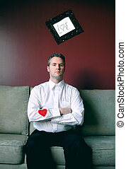 Heart on his sleeve - single man