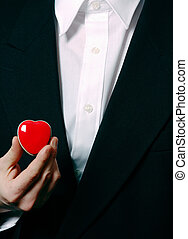 Business heart - businessman with heart