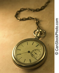 Antique Time - Old watch and fob with use of creative...