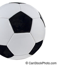 Cropped Soccer Ball Isolated with space for copy