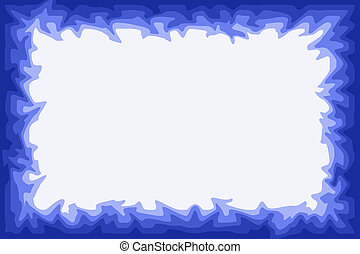 Water border - Irregular blue border design