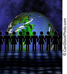 The world united - Conceptual image depicting world peace