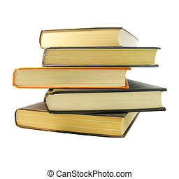 Books - Stack of books on white background