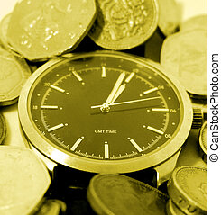 Time is money - Conceptual image depicting time is money