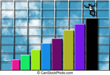 Rising profits - Image depicting financial success