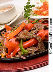 fajitas - traditional fajitas (meal)