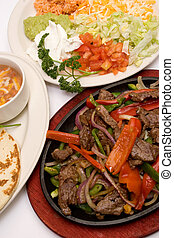 fajitas - traditional fajitas meal