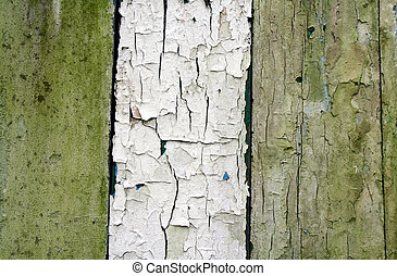 weathered wood - 3 weathered wood panels, artistic paint...