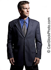 Businessman - Confident businessman white background