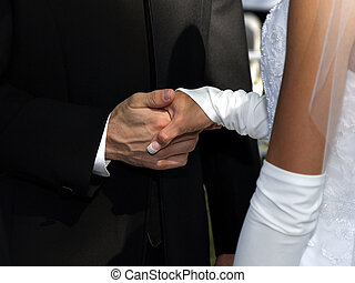 Wedding Hands - Holding hands for a wedding
