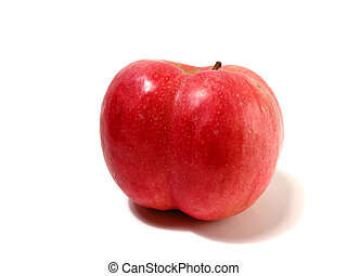 Apple butt cheeks - Funny shaped red apple with butt...