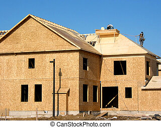 New home construction - Construction of a new home with...