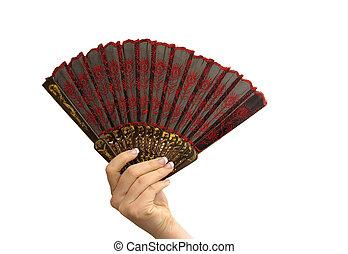 Manicured hand fan
