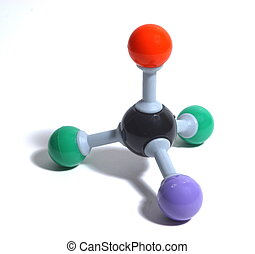 Colorful Molecule - Molecule from organic chemistry model...