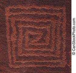 V-V Petroglyph - Native American Rock Art of the Coconino...