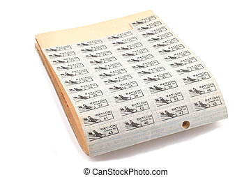 Ration Book - World War 2 Ration book stamps