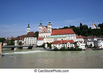 Steyr - Austria - Digital photo of the old city steyr in...