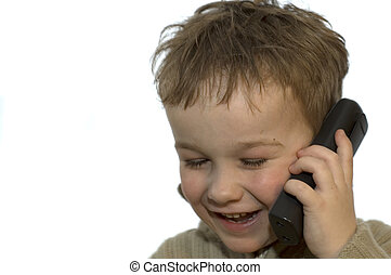 Young boy on phone 2