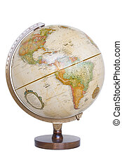 World Globe on white